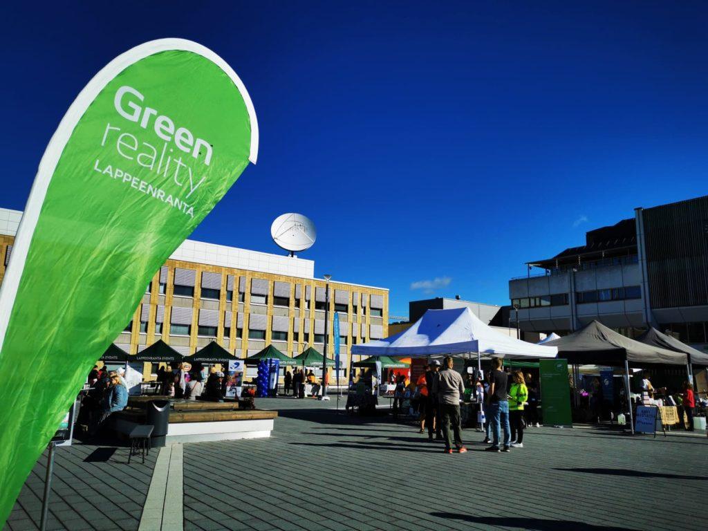 Greenreality Lappeenrannan kansalaistori karnevaali lippu